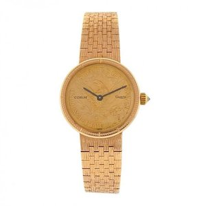 Corum Corum Coin A4013167 1892 18k Rose Gold Coin Quartz Ladies Watch