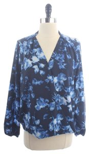 Vince Camuto Camuto Floral Faux Top Blue