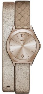 DKNY DKNY Women's Parsons Three Hand Leather Watch- Multicolored NY2375