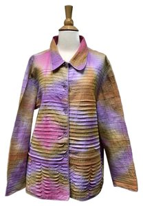 Capistrano Lagenlook Layering Linen Plus-size And Top Pink Purple Yellow