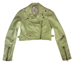 Acne Studios Acne Leather Green Mint Leather Jacket