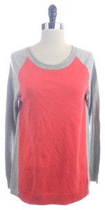 Gap Orange Colorblock Cotton Sweater