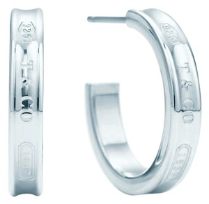 Tiffany & Co. New! T&Co small 1837 narrow hoops.