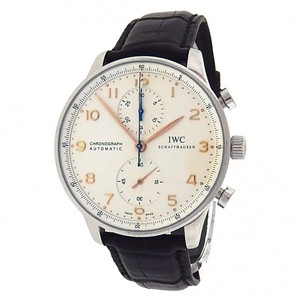 IWC IWC Portuguese Chronograph IW371445 Stainless Steel Leather Automatic