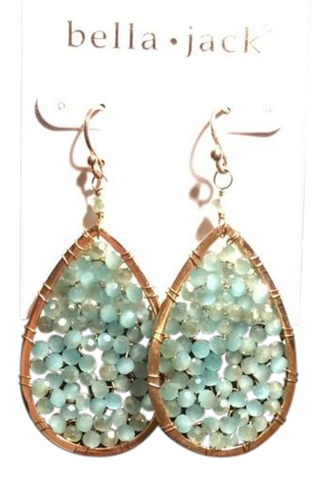 Bella Jack Gold and Turquoise Drops Earrings - Tradesy
