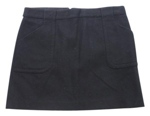 J.Crew Wool Blend Mini Pencil Mini Skirt Black