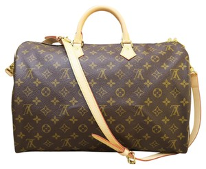 Louis Vuitton Lv Speedy 40 Brown Satchel in monogram