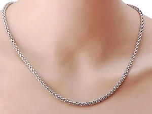 Other ** NWT ** STAINLESS STEEL unisex ( 4MM / 22 INCH ) BASKET CHAIN