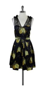 Jill Stuart short dress Multi Black Navy & Yellow Floral Print on Tradesy