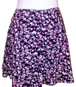 H&M Mini Skirt Black, Pink, Floral