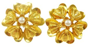 Chanel CC Flower Clip Ons
