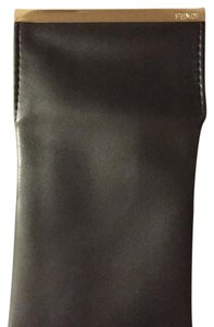 Fendi Fendi Black Leather Soft Sunglasses Case Pouch with Cleaning Cloth