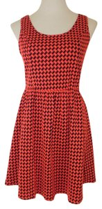 Collective Concepts short dress Red & Black Houndstooth Fit And Flare on Tradesy