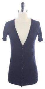 J.Crew Navy Cotton V-neck Short Sleeve Sweater Cardigan