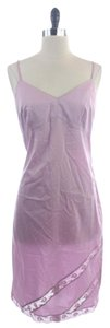 J.Crew short dress Purple Lilac Cotton Blend Cami Lace on Tradesy