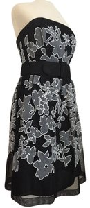 White House | Black Market Graphic Floral Fit And Flare Cocktail Applique Dress