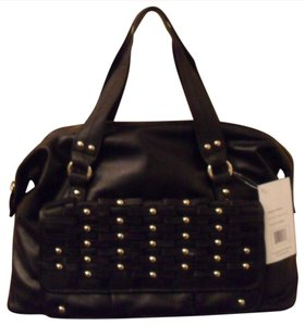 Hype Bryce Leather Satchel in Black