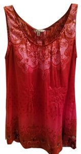 CAbi Silk Tunic Ombre Romantic Top Pink, Red