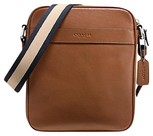 Coach Mens F54782 Flight Crossbody Charles Flight Dark Saddle Messenger Bag