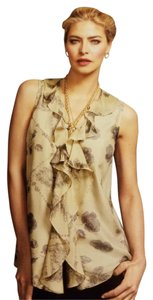 CAbi Silk Tunic Romantic Top Gold