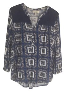 Anthropologie Top Blue print