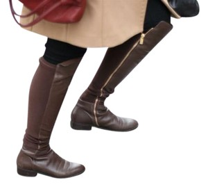 Michael Kors Bromley Over The Knee Brown Boots