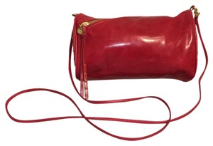 Hobo International Pink/red Studded Asymmetrical Zipper Cross Body Bag