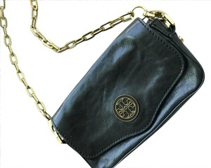 Tory Burch Leather Gold Chain Going Out Event Cross Body Bag