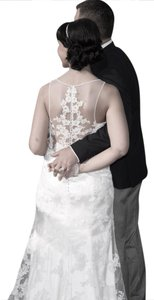 Sottero and Midgley White Lace Jamila Traditional Wedding Dress Size 8 (M)