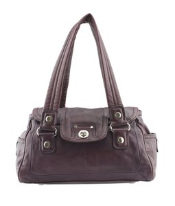 Marc Jacobs Mj Leather Satchel in Purple