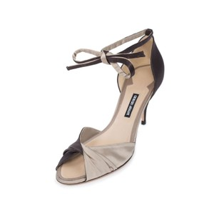 Giorgio Armani Ga Satin D Orsay Beige Brown Pumps