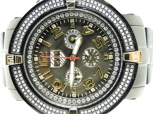Joe Rodeo Mens PWC Jojo Jojino Aqua Master Black 5th Avenue Diamond Watch 5AV102