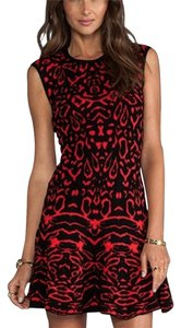 Torn by Ronny Kobo short dress Black, Red on Tradesy