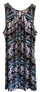 White House | Black Market short dress Black & Aqua on Tradesy