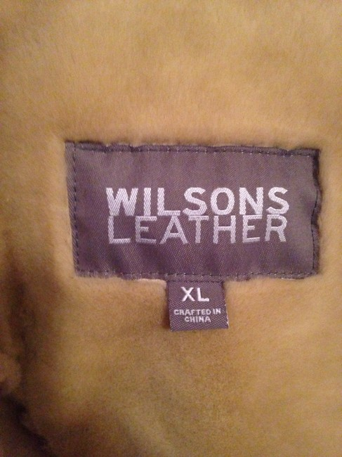 Wilsons Leather Fur Coat Image 1