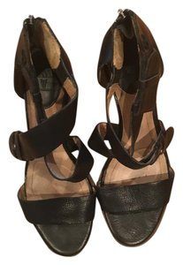 Frye Leather Platform Straps BLACK Sandals