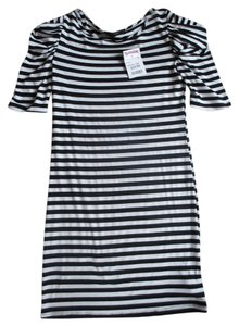 Soprano short dress Black and White Stripes Tj on Tradesy