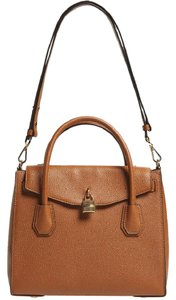 Michael Kors Leather All In One Satchel in Luggage