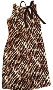 Ann Taylor short dress black white and brown on Tradesy