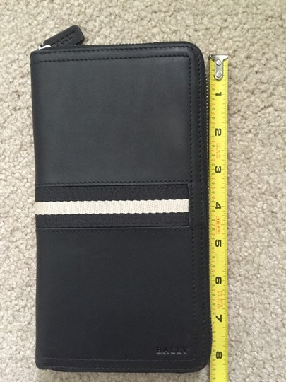 Bally BALLY Tevin Man's Zip Around Long Wallet Leather Black MSRP $525.00