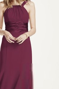David's Bridal Wine F12732 Dress