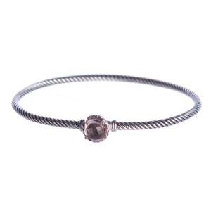 David Yurman Chatelaine Bracelet with Morganite 3mm Size Medium $325 NEW