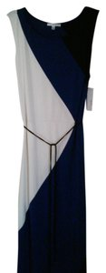 White & Blue Maxi Dress by Studio One