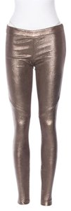 Michelle Mason Metallic Metallic Gold Leggings
