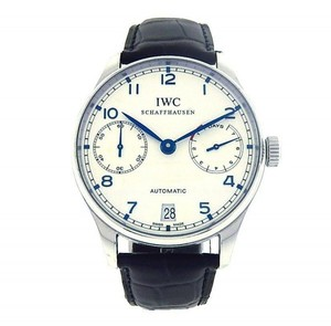IWC IWC Portuguese IW500107 Leather Silver Men's Watch