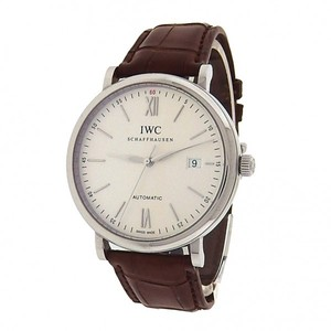 IWC IWC Portofino IW356501 Stainless Steel Brown Leather Automatic Silver