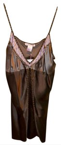 Gold Hawk Silk Charmeuse Bias Cut Studded New With Tags Camisole Top Truffle