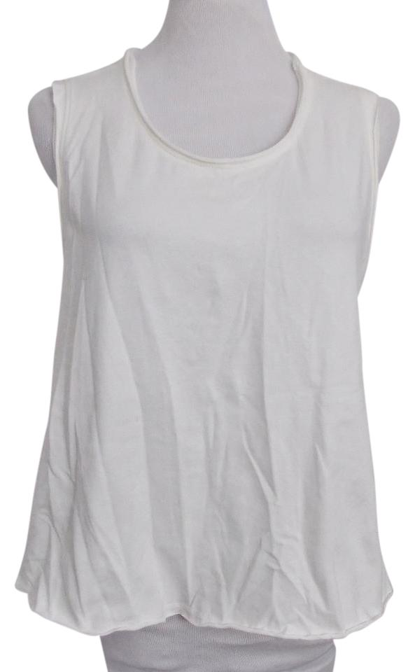41e8bdb61f0b83 Silence + Noise Urban Outfitters Cropped Trapeze Hem Top Off White Image 0  ...