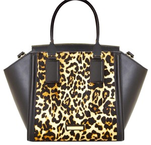 BCBGMAXAZRIA Satchel in Black/Cheetah Print