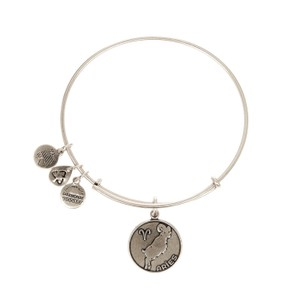 Alex and Ani Aries II zodiac expandable wire bangle